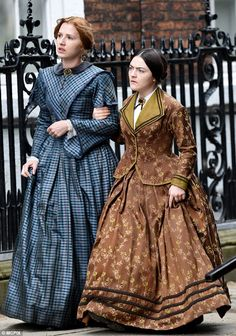 Anne and Charlotte Bronte approach the offices of Smith, Elder & Co to reveal their identities as the authors of The Tenant of Wildfell Hall and Jane Eyre. From To Walk Invisible, shooting May-June 2016.