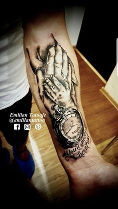 Time Hand Tattoos for Men . Time Hand Tattoos for Men . Baby Tattoo For Dads, Tattoo For Son, Hand Tattoos For Guys, Tattoos For Kids, Tattoos For Daughters, Baby Feet Tattoos, Daddy Tattoos, Baby Name Tattoos, Father Tattoos