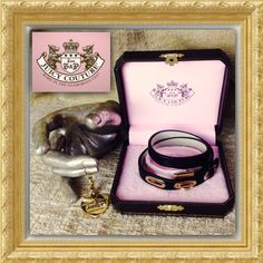 "HPJUICY COUTURE Black Leather Charm Bracelet Gorgeous, never worn Genuine Black Leather wrap bracelet with polished Gold-tone hardware & Signature engraved Heart Charm. Charm says ""Royal Couture Juicy From G & P!!!"" This piece is New In Box, never worn, have had it for years. It had an outer sleeve with tag & price but I thru it out. Adjusts to 6.25"" 6.75"" - 7.25"" Juicy Couture Jewelry Bracelets"