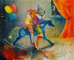 """Saatchi Art Artist Anna Ravliuc; Painting, """"Nelly's Moon"""" #art"""