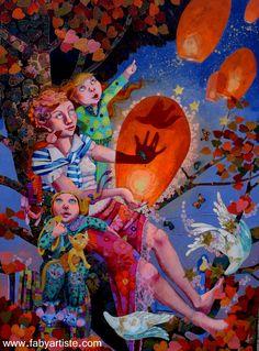 """Faby artiste peintre - """"Reçois ma vie comme une adoration, reçois mon coeur comme un cadeau d'Amour"""""""