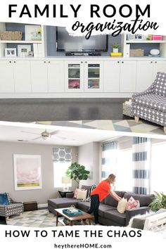 In this video I show you how we designed and decorated our family room to tame the kid chaos and be really functional!