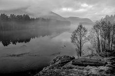 Lågen river by Lidia, Leszek Derda on Places To Visit, River, Mountains, Landscape, Nature, Outdoor, Outdoors, Scenery, Naturaleza