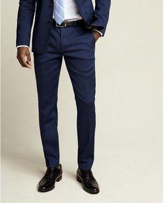 Express skinny innovator navy wool-linen blend suit pant #MensFashionClassy