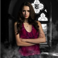 "Nina Dobrev-""Elena Gilbert & Katherine Pierce""-The Vampire Diaries. Elena Gilbert, Twilight Movie, Katherine Pierce, Vampire Diaries The Originals, Nina Dobrev, Beautiful Actresses, Favorite Tv Shows, Fandoms, Wonder Woman"