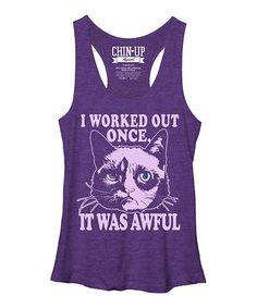 Grumpy Cat 'Awful Workout' Racerback Tank - Juniors #zulily #zulilyfinds