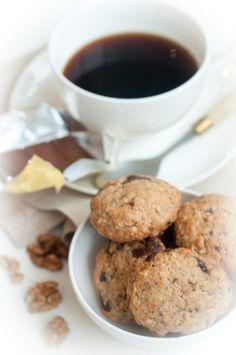 Овсяное печенье с шоколадом.