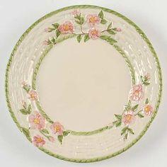 Dinner Plate w/Basketweave Border in Desert Rose (England-Portugal Backst&) by  sc 1 st  Pinterest & franciscan desert rose chip dip set from portugal | FRANCISCAN ...