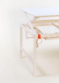 Austrian product designer Sebastian Zachl designed a height-adjustable working table called adjus.table.