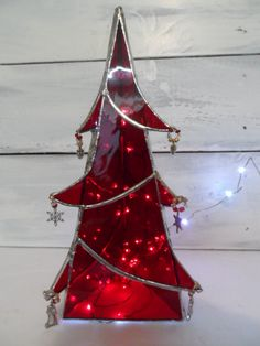 Georgeous Stained Glass Christmas Tree by StainedGlassBalm on Etsy