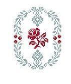 Rose médaillon (grille gratuite) - Broderies Passion martine290