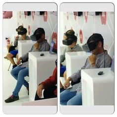 An awesome Virtual Reality pic! Probando el futuro: gafas de realidad virtual. Una pasada !! #amigos #asturias #bestoftheday #chelfie #eventos #foto #follow #friends #followme #fidma2015 #gijon #me #pic #postureo #picoftheday #realidadvirtual #futuro #future #shot #spain #selfie #summer #selfies #vsco #vscocam #verano #virtualreality by johupa check us out: http://bit.ly/1KyLetq