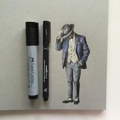 Big art supplies or a small drawing ? Yeah, of course it's a small drawing