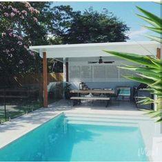 29 ideas backyard pool pergola for 2019 # backyard # backyard oasis ideas dream high … Pool Gazebo, Backyard Pool Landscaping, Backyard Pool Designs, Small Backyard Pools, Backyard Ideas, Pergola Designs, Hydrangea Landscaping, Diy Pool, Pool Ideas