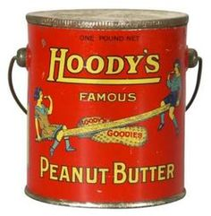 peanut butter tin | Hoody's Peanut Butter tin pail with goober teeter-totter image ...