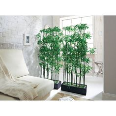 Artificial Bamboo Plant Room Divider, approx. 140 cm high