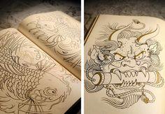 Es un libro que te permite dibujar tatuajes que otras personas hicieron, solo dibujan las lineas y cada quien le aplica los colores que quieran. Son como