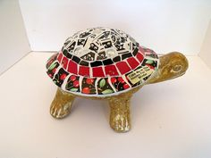 Mosaic Turtle for Garden or Home  Red Cherries  Mary Engelbreit Dishes