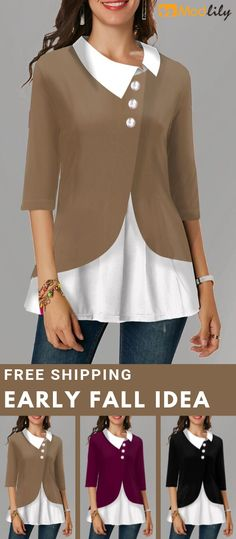 Buy trendy tops for women online with competitive price, ladies tops, cute women tops online store. Pretty Outfits, Fall Outfits, Casual Outfits, Modest Fashion, Fashion Dresses, Trendy Tops For Women, Clothes For Women, Womens Fashion, Stitch