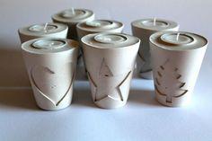 Gips, Beton Teelichthalter