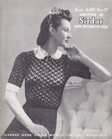 vintage knit lace pattern