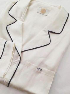 Monogrammed Silk Pajamas Clothing, Shoes & Jewelry - Women - Clothing - Lingerie, Sleep & Lounge - Lingerie - Lingerie, Sleepwear & Loungewear - http://amzn.to/2lSL4Y7