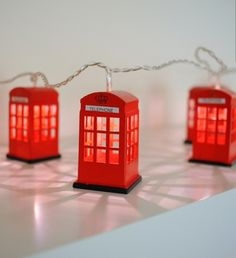 ~ Christmas lights ~ red British phone boxes ~ perfect ~