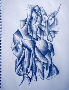 VellaiTamas Abstract pen drawings art yoda by vellaitamas.deviantart.com on @deviantART