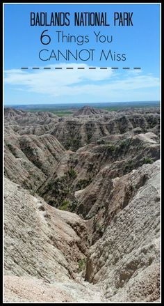 6 Things to Do in Badlands National Park Top suggestions on things to see and do while visiting the Badlands National Park in South Dakota!Top suggestions on things to see and do while visiting the Badlands National Park in South Dakota! South Dakota Vacation, South Dakota Travel, North Dakota, Bad Lands South Dakota, Sturgis South Dakota, Deadwood South Dakota, North America, Rapid City South Dakota, Sioux Falls South Dakota