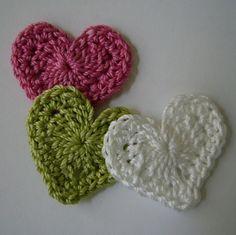 Crochet hearts by NeedleCreations.etsy.com
