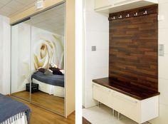 Tuulikaappiin, erivärinen seinä! Home Improvement, Entryway, Furniture, Home Decor, Ideas, Entrance, Decoration Home, Room Decor, Door Entry