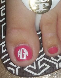 12 EXTRA Small (NAIL) Monogram/Initial Vinyl Decals. $5.00, via Etsy.