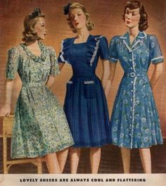 Day Dress History Vintage dancer gives great advice on what constitutes a day dress.Vintage dancer gives great advice on what constitutes a day dress. 1940s Fashion Women, 1940s Fashion Dresses, Fashion In, 1940s Dresses, Fashion Moda, Fashion History, Day Dresses, Retro Fashion, Vintage Dresses