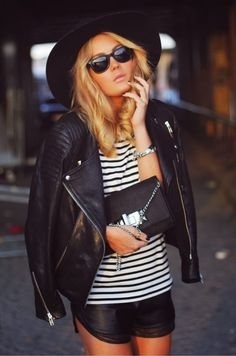 How to Chic: LEATHER SHORTS