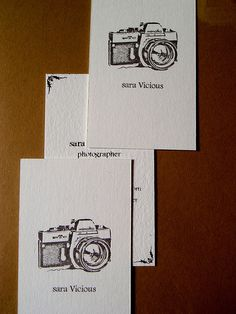 photographer's business cards