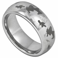 8MM Laser Etched Camouflage Pattern Men's Tungsten Ring. Engraving is available for this ring at #ringninja. $59.99.       http://ring-  ninja.com/tungstenringcamo-rntu086.html