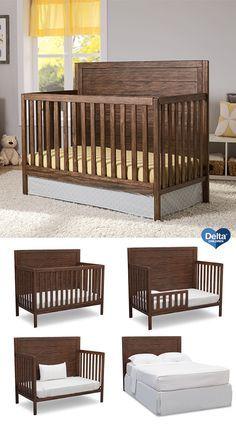 Baby Nursery Rustic Convertible Crib 32 New Ideas Diy Toddler Bed, Baby Crib Diy, Baby Boy Cribs, Baby Boy Rooms, Baby Beds, Baby Crib Designs, Wooden Cribs, Wooden Baby Crib, Baby Girls