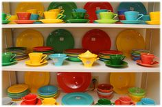 Some hard to find and discontinued colors of Fiestaware available at Brandywine General Store and BrandywineGeneralStore.com #fiesta #fiestaware #wvglass