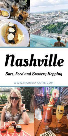 Girls Trip Nashville, Nashville Bars, Weekend In Nashville, Nashville Vacation, Tennessee Vacation, Visit Nashville, Nashville Breweries, Nashville Restaurants, Nashville Attractions