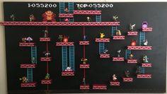 Donkey Kong Level custom made Amiibo figure Shelf