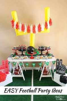 Celebrate your home team with a fun Football Party this Football season! AD #NotSoFastMom