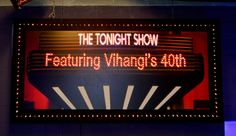 Tonight Show 40th Birthday Name in Lights http://www.idealpartydecorators.com
