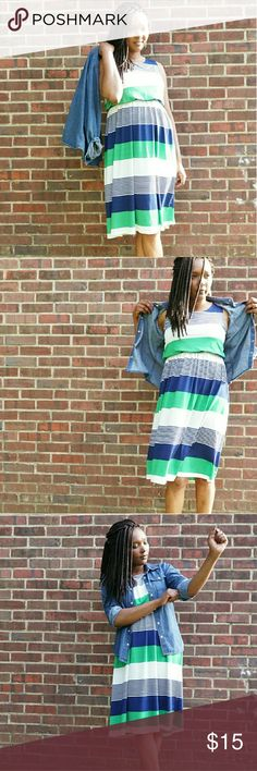 🎃SALE🎃Stripe Dress Bold cool stripes pattern sleeveless dress ?? SOME STAINS HARDLY VISIBLE Dresses Midi