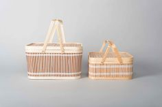 Native & Co bamboo picnic baskets