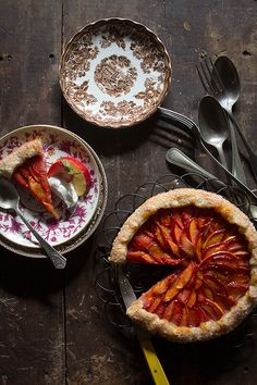 Strawberry and Nectarine Galette via Bakers Royale