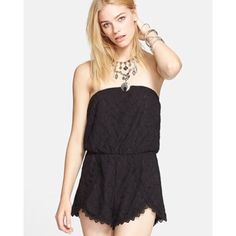 Free people Thalia Lace Romper Brand new without tags. No flaws of any kind. Free People Dresses