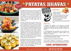 patatas bravas-01 Spanish Teacher, Spanish Classroom, Teaching Spanish, Spanish Food, Ap Spanish, Spanish Projects, Breakfast Lunch Dinner, Protein Breakfast, Spanish Language
