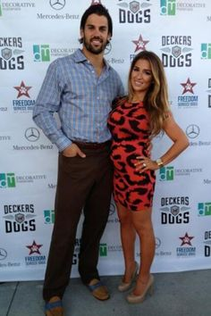Bronco's Eric Decker and his pregnant wife Jessie James