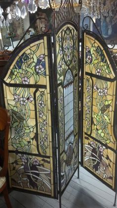Stain glass room divider