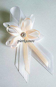 Pierka - svadobné pierko veľké bielo marhuľkové